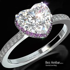 Bez Ambar's Eternal Love ring with amethyst. #diamondjewelry #engagementrings www.bezambar.com