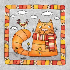 Some of my cat illustrations. Cat Drawing, Drawing For Kids, Art For Kids, Silly Cats, Cats And Kittens, I Love Cats, Cool Cats, Gatos Cat, Wal Art