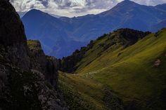 Landscapes from Fuentes De in Picos de Europa mountains in Spain