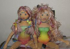 "<3 friends - 2 custom dolls created from ""Embody the Light"" Doll Kits!"