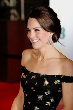 """ Catherine, Duchess of Cambridge attends the 70th EE British Academy Film Awards (BAFTA) at Royal Albert Hall on February 12, 2017 in London, England. """