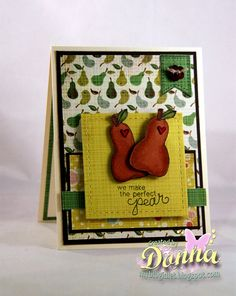 Perfect Pear card by Donna Idlet using Sweet Summer Stamp Set   Newton's Nook Designs