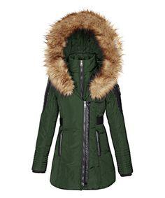 Another great find on #zulily! Moss Faux Fur Zip Coat - Women #zulilyfinds