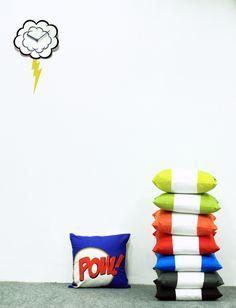 Comic Power !  #cushions #comic #bright