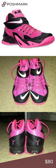 f125e8bbb3d5 🎁NWOT- Nike Zoom LeBron Soldier 8🎁 Pink   black LeBron basketball shoes