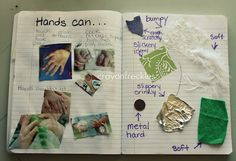 sense of touch activities to use with The Black Book of Colors #crayonfreckles