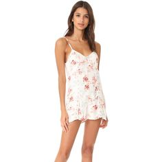 MINKPINK Innocence Romper (1 070 ZAR) ❤ liked on Polyvore featuring jumpsuits, rompers, multi, striped rompers, white floral romper, white lace romper, playsuit romper and lace rompers
