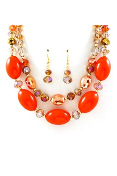 Liam Agate Necklace on Emma Stine Limited