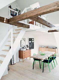 Przestronne poddasze. Piękne! #attic #poddasze #interior