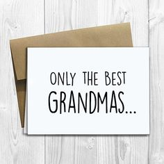 PRINTED CUSTOM Only the Best Grandmas Get Promoted to Great Grandma Pregnancy Announcement 5x7 Greeting Card - Expecting Notecard by DesignsLM on Etsy