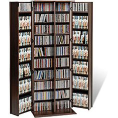 Everett Espresso Large Deluxe Cd/ Dvd Media Storage