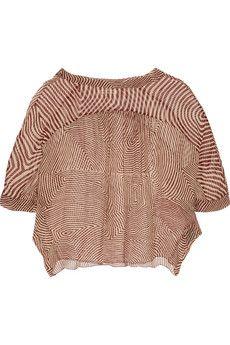 Étoile Isabel Marant Dezi printed silk-georgette blouse   THE OUTNET