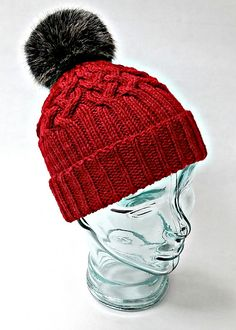 Steamboat Hat Knitting pattern by Martha Wissing The Steamboat hat is knit from the bottom up, beginning with the ribbing. The blue worsted weight version hat a ribbi. Ribbed Crochet, Crochet Mittens, Mittens Pattern, Beanie Pattern, Crochet Baby Hats, Crochet Slippers, Baby Blanket Crochet, Knitting Socks, Knitted Hats