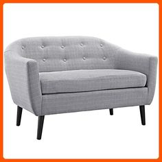 Modway Wit Loveseat, Light Gray - Improve your home (*Amazon Partner-Link)