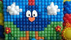 Painel de balões Galinha Pintadinha! <br> <br>Tamanho: 2,80 x 2,10 <br>Fazemos qq tamanho. <br> <br>Atendemos Itatiba - Sp e região. <br>Consulte frete!