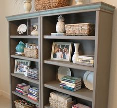 It's official: My first Annie Sloan chalk paint furniture project is complete.   First, a few pictures ~      For the body of these bookcase...