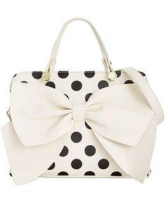 Betsey Johnson Bow Regard Satchel - All Handbags - Handbags & Accessories - Macy's