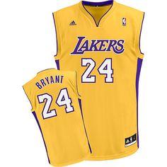 Adidas NBA Los Angeles Lakers 24 Kobe Bryant New Revolution 30 Swingman  Home Yellow Jersey Las d4f3f6284
