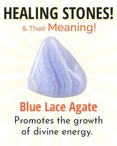Blue Lace Agate Healing Stone