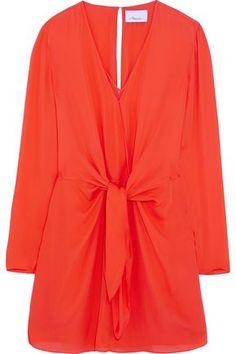 3.1 PHILLIP LIM  Tie-front silk mini dress  204£  https://www.theoutnet.com/en-gb/shop/product/item_cod4772211932012575.html