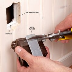 Adding receptacles isn't overly complicated, but there are facts you should know in order to stay safe and code compliant. Home Electrical Wiring, Electrical Code, Electrical Outlets, Outlet Wiring, Electrical Outlet Covers, Specialty Appliances, Wainscoting, Home Repair, Stay Safe