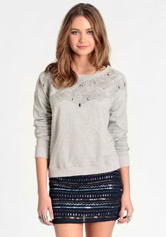 Before Dusk Laser Cut Pullover - $44.00 : ThreadSence, Women's Indie & Bohemian Clothing, Dresses, & Accessories