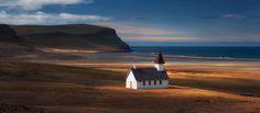 A church by the beach - Breidavik, Iceland