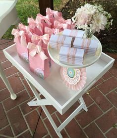 Rosette themed 1st birthday party with Lots of Cute Ideas via Kara's Party Ideas | Cake, decor, desserts, favors, games, and MORE! #firstbir...
