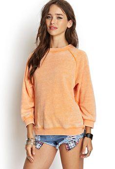 Mineral Wash Sweatshirt   FOREVER21 - 2000067995