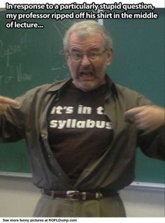 Hahaha! I NEED this shirt! I love my grad students so much but I do have my moments like this...