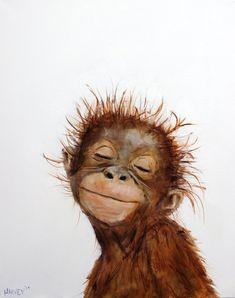 art painting Little Orangutan 2 print on canvas Tier Wallpaper, Animal Wallpaper, Fall Wallpaper, Monogram Wallpaper, Plain Wallpaper, Beautiful Wallpaper, Galaxy Wallpaper, Iphone Wallpaper, Animal Paintings