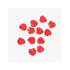 Edible Red Heart Gems Edible Jewels - BakeDeco.Com