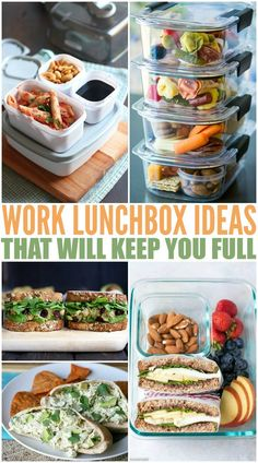 Healthy Work Lunch Ideas To Keep You Full. Healthy Work Lunch Ideas To Keep You Full - Family Fresh Meals. Here are some of my favorite Healthy Work Lunch Ideas To Keep You Full all day long. Easy to pack and even more fun to eat! Healthy Lunches For Work, Cold Lunches, Work Meals, Cheap Healthy Lunch, Snacks For Work, Lunches For Working Men, Packing Healthy Lunches, Meals To Go, Healthy Lunchbox Ideas