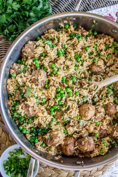 Ground Beef Rice, Beef And Rice, Pea Recipes, Cooking Recipes, Healthy Recipes, Rice Recipes, Rice Krispies, Picky Toddler Meals, Meatballs And Rice