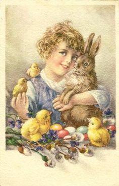 1947 Easter Postcard