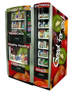 Healthy Eats & Drinks provide healthy snacks via vending machine