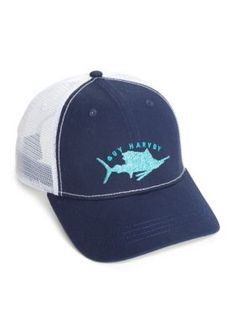 660153eb278bd Guy Harvey Men s Streaker Trucker Hat - Navy - One Size
