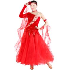 a1deef345cca Aliexpress.com : Buy 2017 New Competition Standard Dress For Ballroom  Dancing Red/Black/Blue/Wine Red Lady Ballroom Dance Wear Skirt Vestido De  Baile from ...