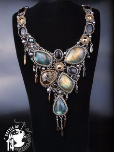 Beautiful necklaces from BOTB 2014 (II) | Beads Magic. Love this, especially the subtle freeform work in the design! Curleytop1