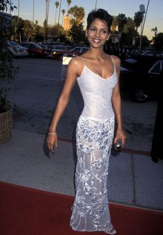 Actress Halle Berry attends the Second Annual Blockbuster Entertainment Awards on March 6 1996 at Pantages Theatre in Hollywood California