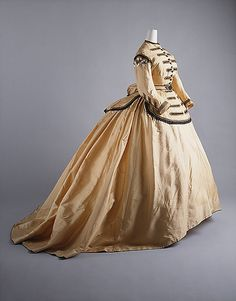 American Dress, 1855-1865  Silk, Military Embellishments  Gift of Mary Pierrepont Beckwith to The Metropolitan Museum of Art