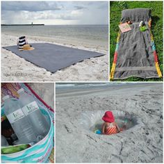 Beach hacks to help you deal with sand, keep the kids corralled and keep your drinks cool (and everything in between)!