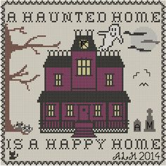 PDF for A Haunted Home cross stitch - alternate link