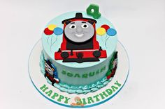Thomas the train birthday cake.   www.facebook.com/thesweeteryph  ❤️Diana