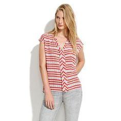 Striped Silk Doublet Top