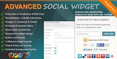 Advanced-Social-Widget-v3.10  the widget tool for your wordpress