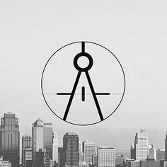 Logo compas pour une architecte