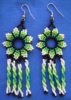 Huichol Beaded Flower Earrings by Aramara on Etsy, $7.00