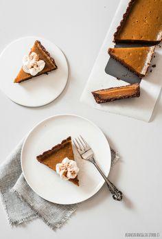 Vegan Pumpkin pie | Crostata di zucca con frolla al cacao