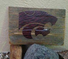 KSU Wildcat Barnwood Plaque by LilMissJunknista on Etsy, $15.00